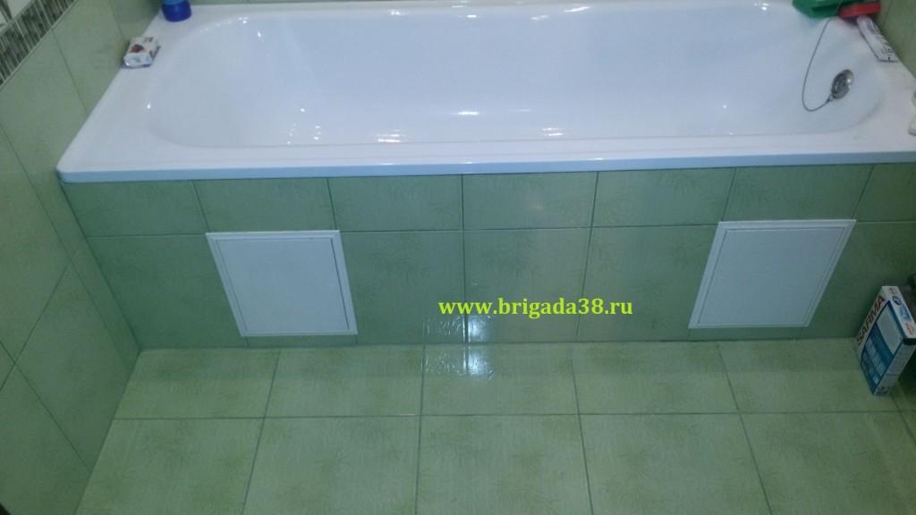 Отделка ванной комнаты ул. Баумана 235